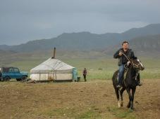 in Western Tuva with my horse Belek Kara.