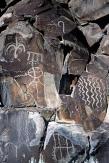 Rock art containing The Soriah sigil.