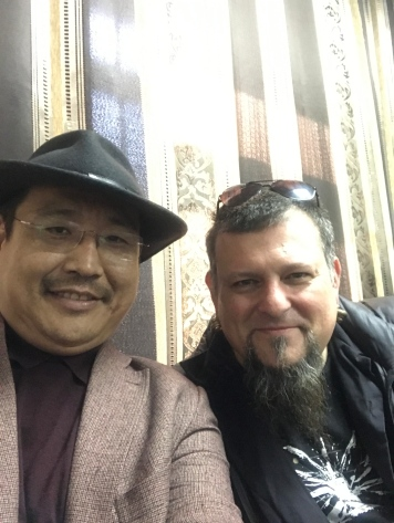 Me and one of my teachers and old friends, Igor Koshkendei, director of the National Tuvan Cultural Center.