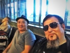Waiting at the Abakan Airport with MAster Throat singer and dear friend, Monguun-ool Ondar.