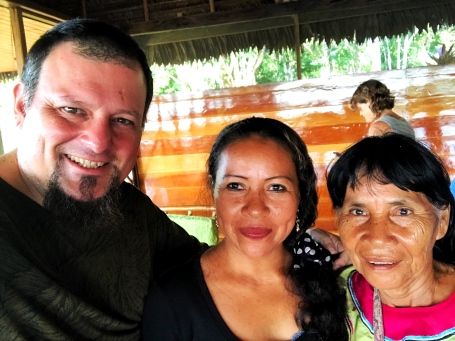 with Vilma and Teresa, the Shipibo Shamans.