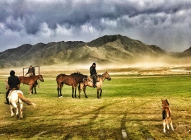 Horse masters in Western Tuva