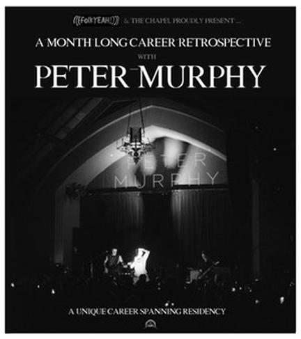 Peter Murphy show flyer